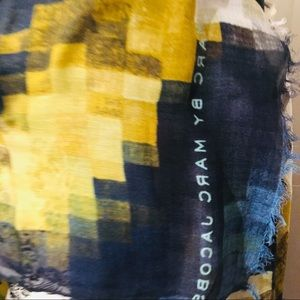 Marc by Marc Jacobs Scarf - Blue yellow multi
